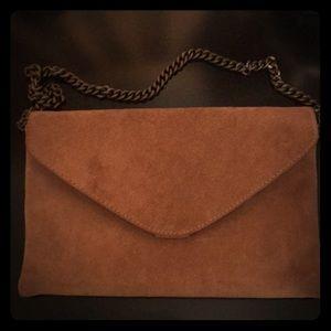 Jcrew 100% genuine leather envelope clutch